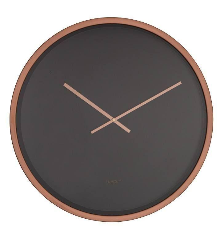 Zuiver - Time Bandit Vægur - Svart/kobber - Ø60 - Enkelt og sjarmerende veggklokke fra Zuiver. Time Bandit klokke har en sort skive, som sammen med kanten og viserne i kobber gir klokken et elegant uttrykk.