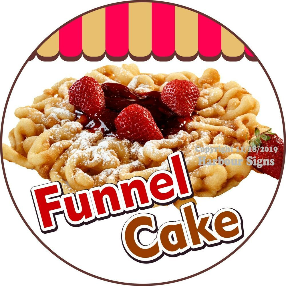 Details about decal sticker funnel cake decal choose your