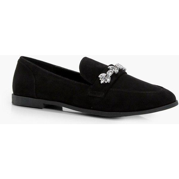 583a8258996 Boohoo Jenny Embellished Trim Loafer ( 14) ❤ liked on Polyvore featuring  shoes