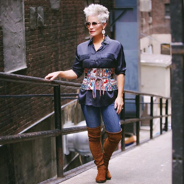 Shauna Chic Over 50 Fashion Bloggers Chic Over 50