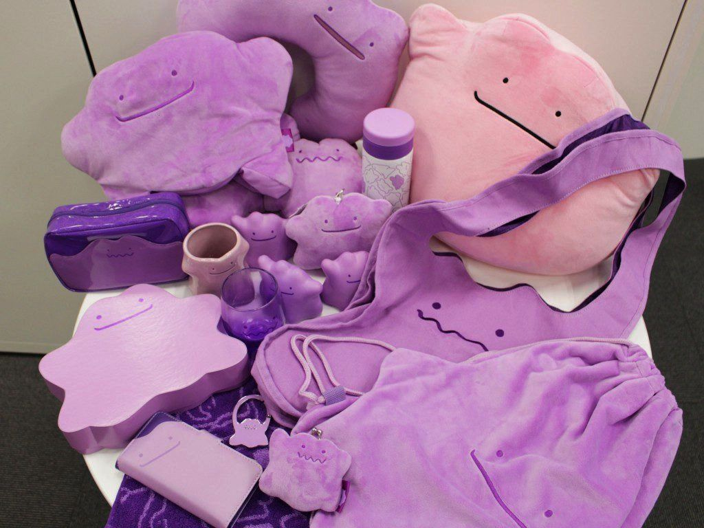 of Ditto Merch released by the Pokemon Center -Line of Ditto Merch released by the Pokemon Center -