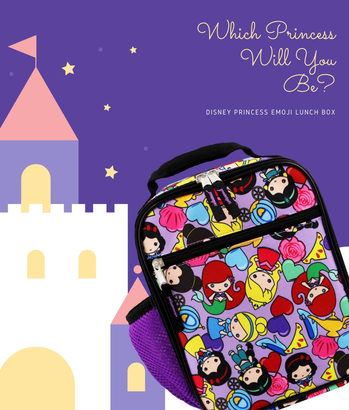Disney Princess Emoji Lunch Box Disney Princess Emoji Lunch Box Girls Lunch Boxes