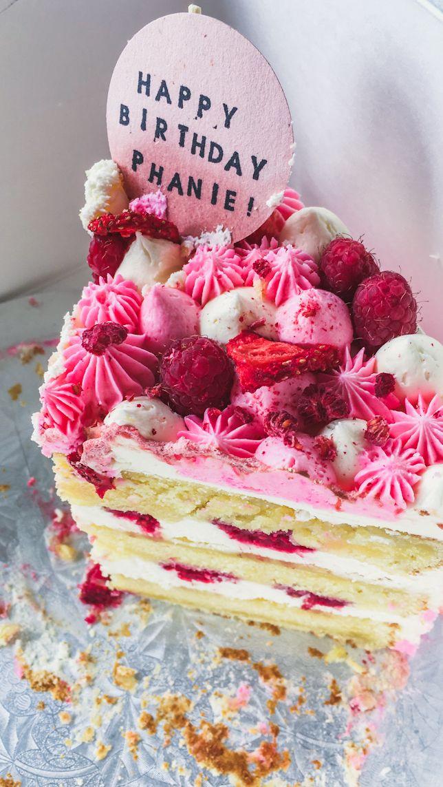 slice of striped cake | Cake, Cake land, Cake blog