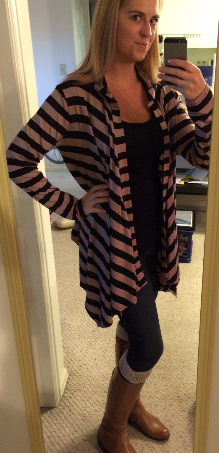 Loveappealla Brownson Striped Hooded Open Cardigan - Stitch Fix ...