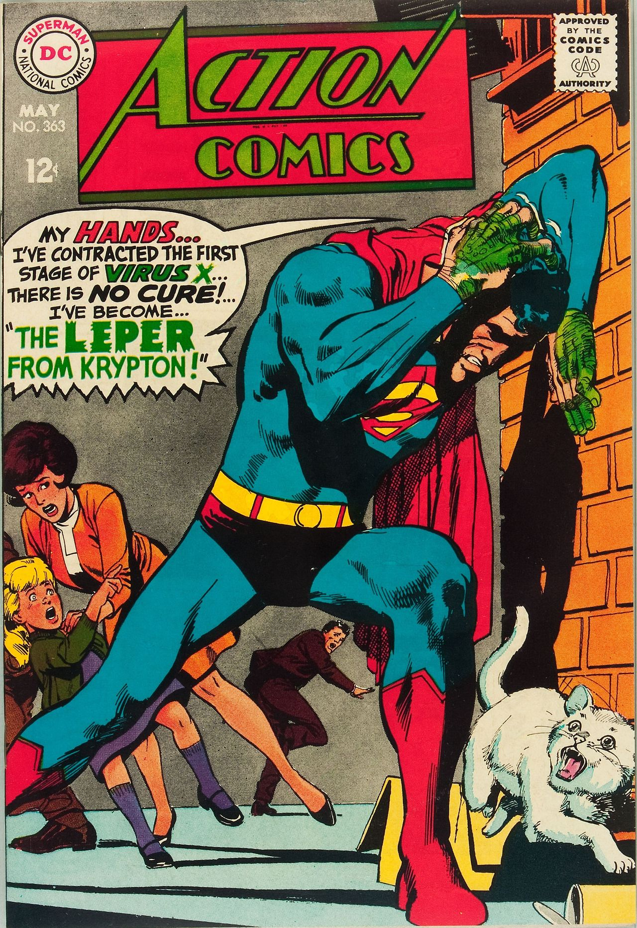 Action Comics 363. Art by Neal Adams.
