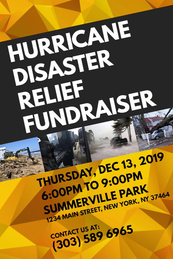 Hurricane Relief Fundraiser Flyer Template  Corporate Flyer
