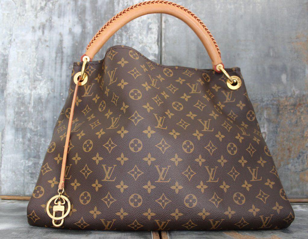 a252c362d18c Louis Artsy Bag Monogram Print Brown Color MM Replica Handbags