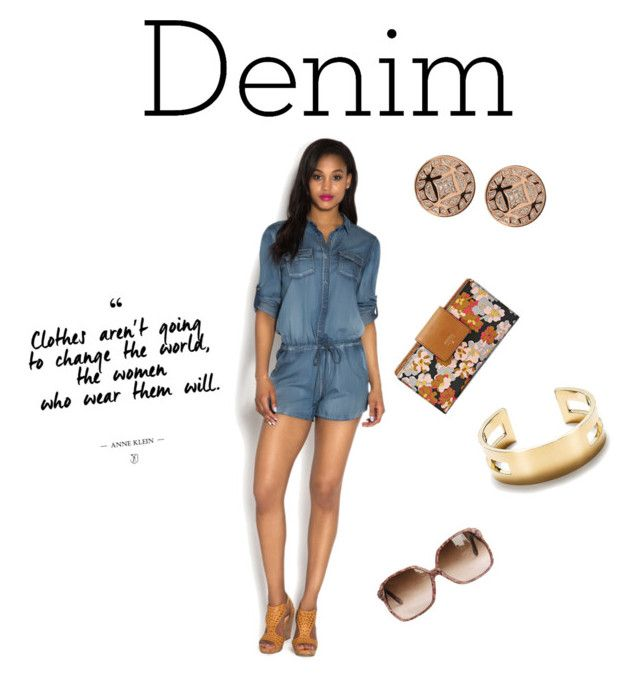 """""""Date Denim"""" by christellafashionista ❤ liked on Polyvore featuring FOSSIL, Tiffany & Co. and Denimondenim"""