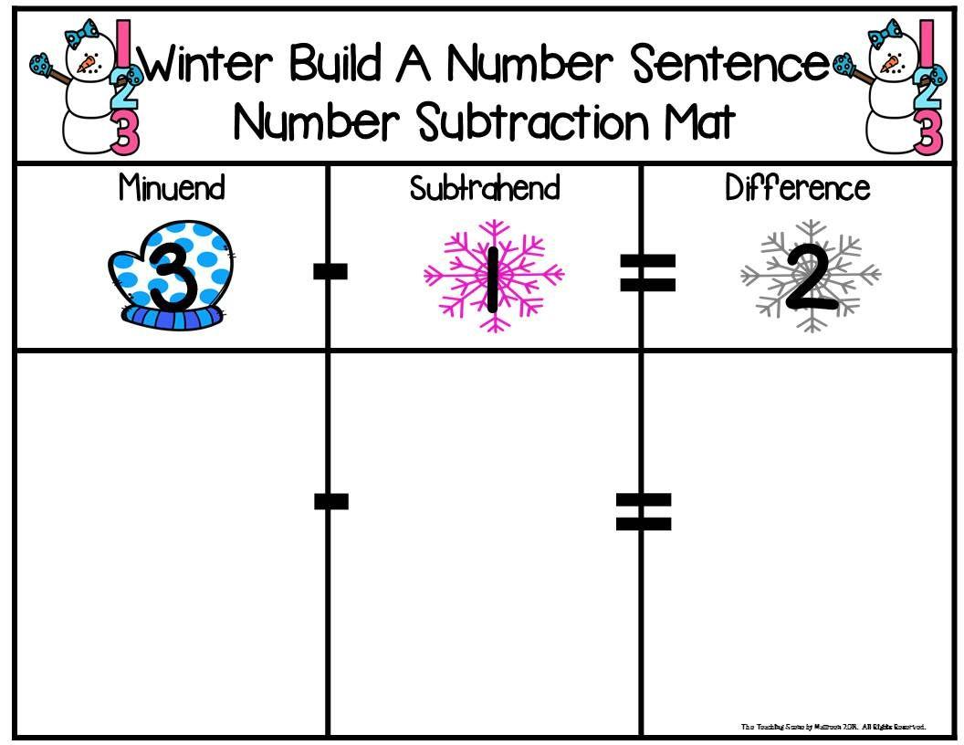 Winter Build 2 Addend 0 20 Addition Amp Subtraction Number
