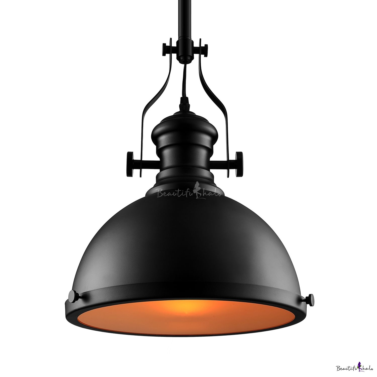 Industrial Style 12 Wide Black Pendant Light With Diffuser Industrial Pendant Lamps Black Pendant Light Pendant Light
