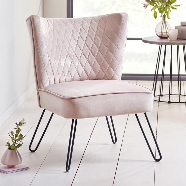 Best Mikka Blush Pink Velvet Accent Chair – Perch Living Pink 400 x 300