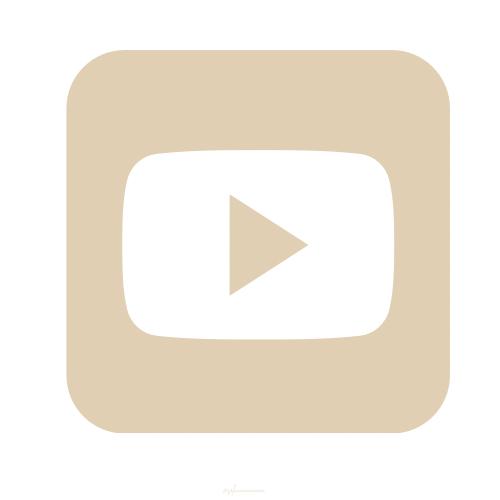 Youtube Icon Beige Ios App Icon Ios Icon Iphone Apps