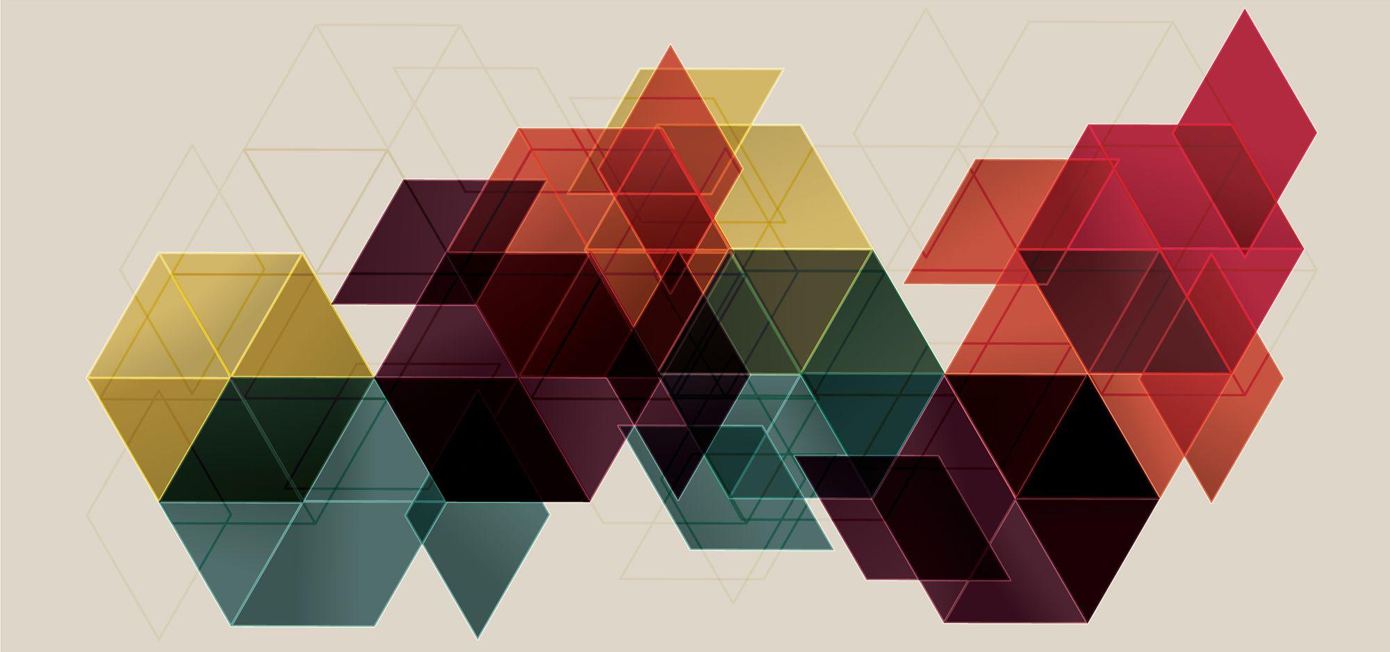 ombre geometric 3d wallpaper-#40