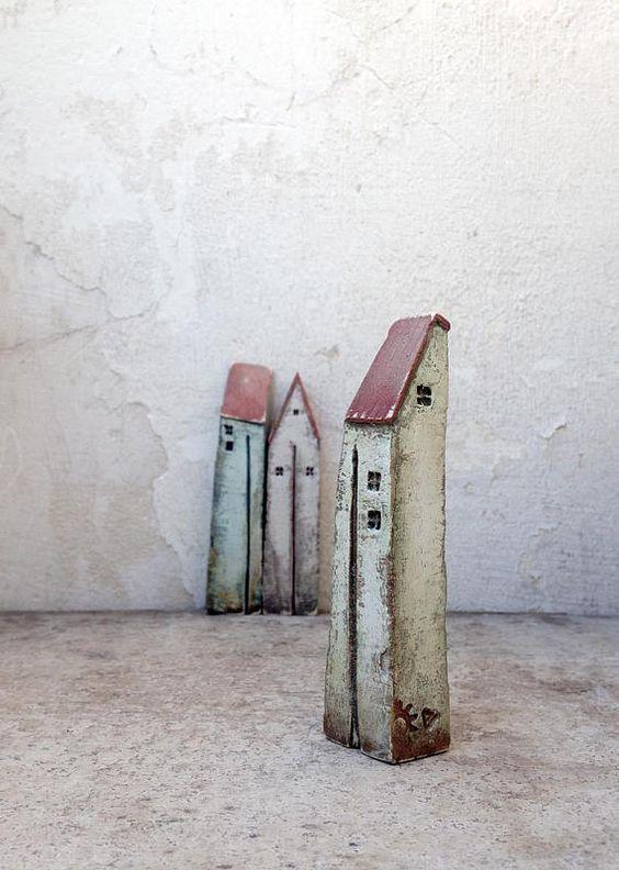 Ceramic houses, Christmas gift, clayhouse, handmade ceramic houses ...