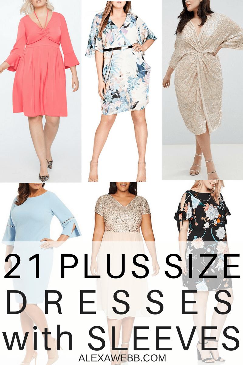 Wedding day guest dresses   Plus Size Wedding Guest Dresses with Sleeves  Plus Size