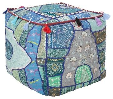Surya Cube Pouf X-98-FUOP traditional-floor-pillows-and-poufs