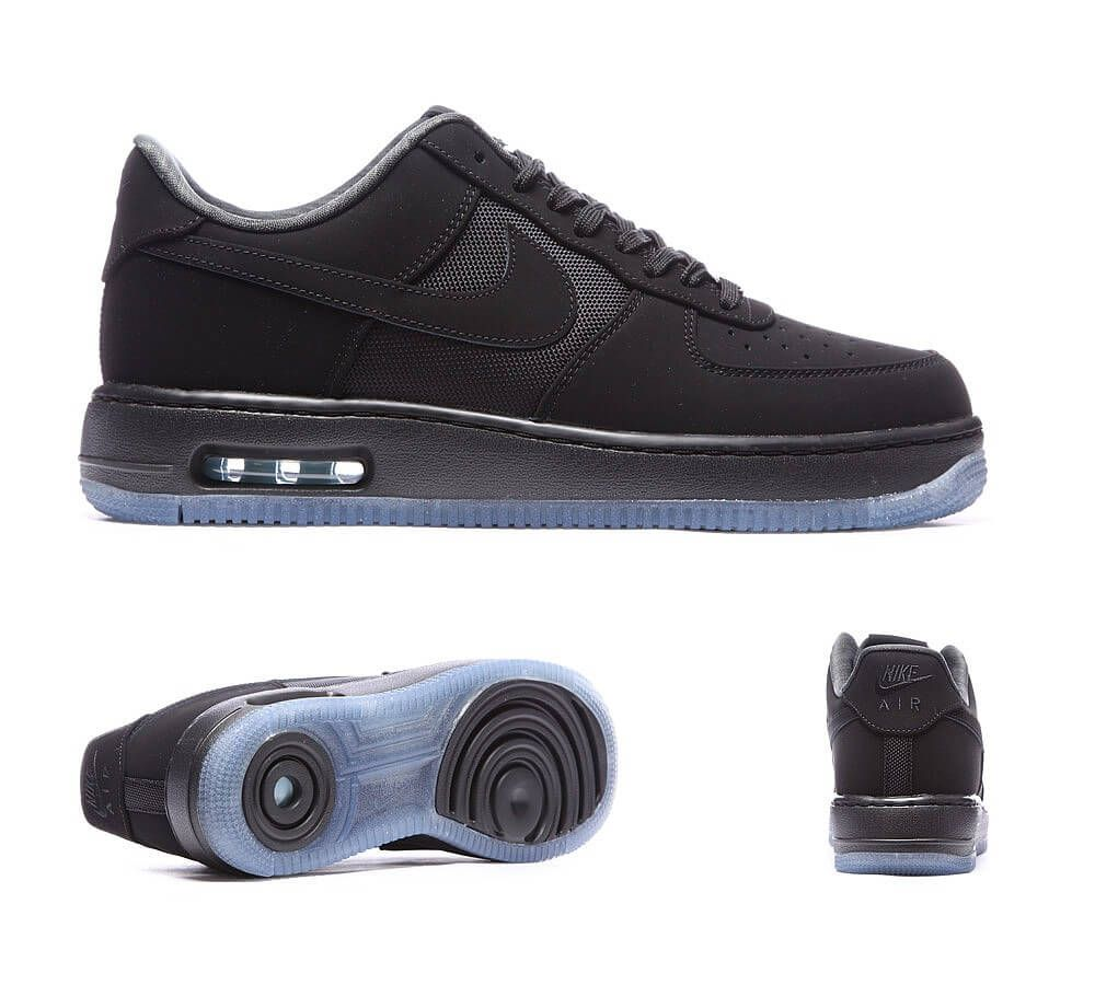 big sale fb06c 0572b ... nike air force 1 black black gamma blue Af1 Shoes, Kicks Shoes, ...