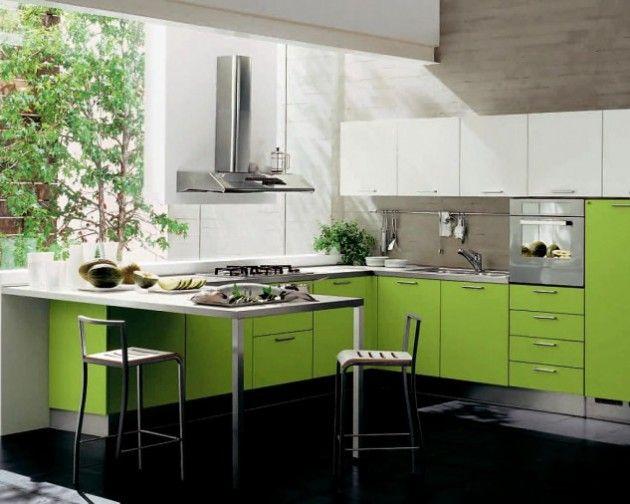 Idee Design di verde per la tua cucina…