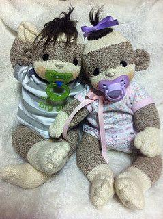 Sock Monkey Baby - Lollipop Babies. ButterCup babies.