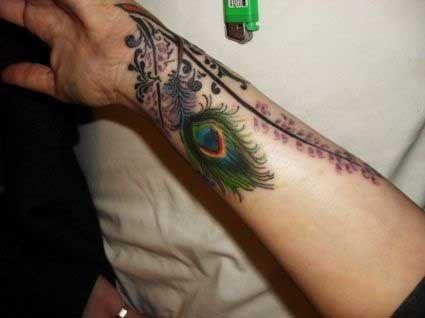 Tatouage Poignet Plume De Paon Tattoo Ideas Feather Tattoos