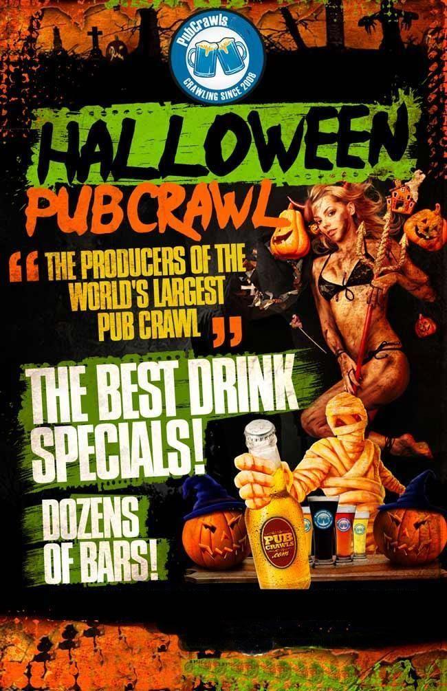 Halloween Bar Crawl October 31st Halloween Event Pub Crawl Drink Specials