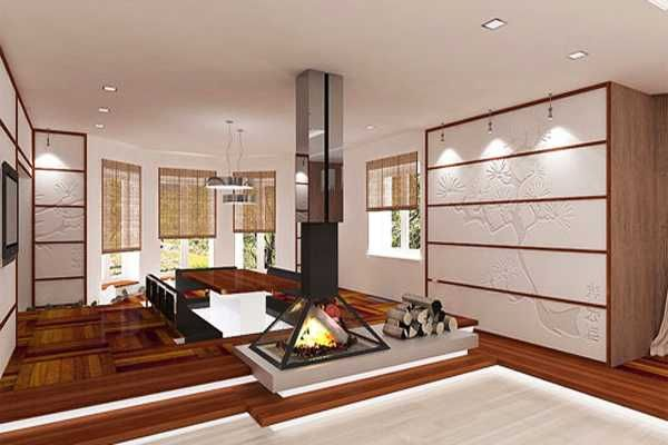 Living Room Design In Japanese Style Japanese Interior Design