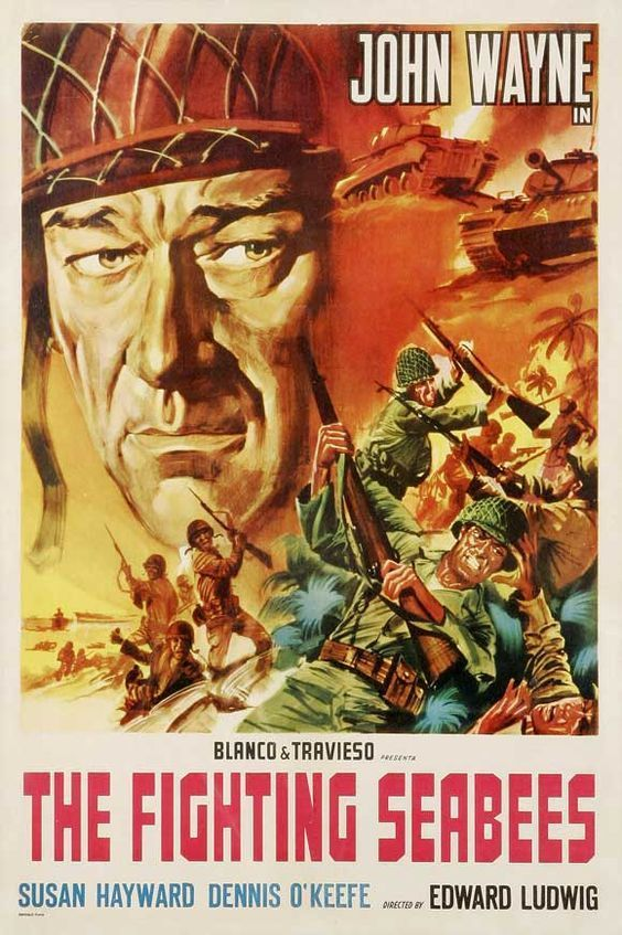 Batallón de construcción es una película dirigida por Edward Ludwig con John Wayne, Susan Hayward, Dennis O'Keefe, William Frawley, .... Año: 1944.