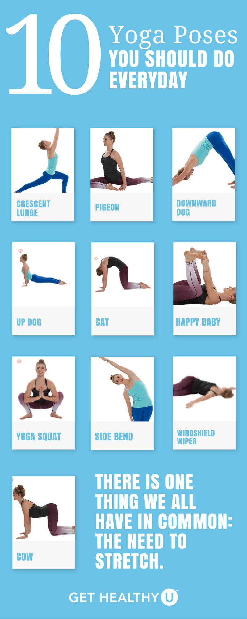 10 Yoga Poses To Add To Your Daily Routine Easy Yoga Workouts How To Do Yoga Yoga Poses