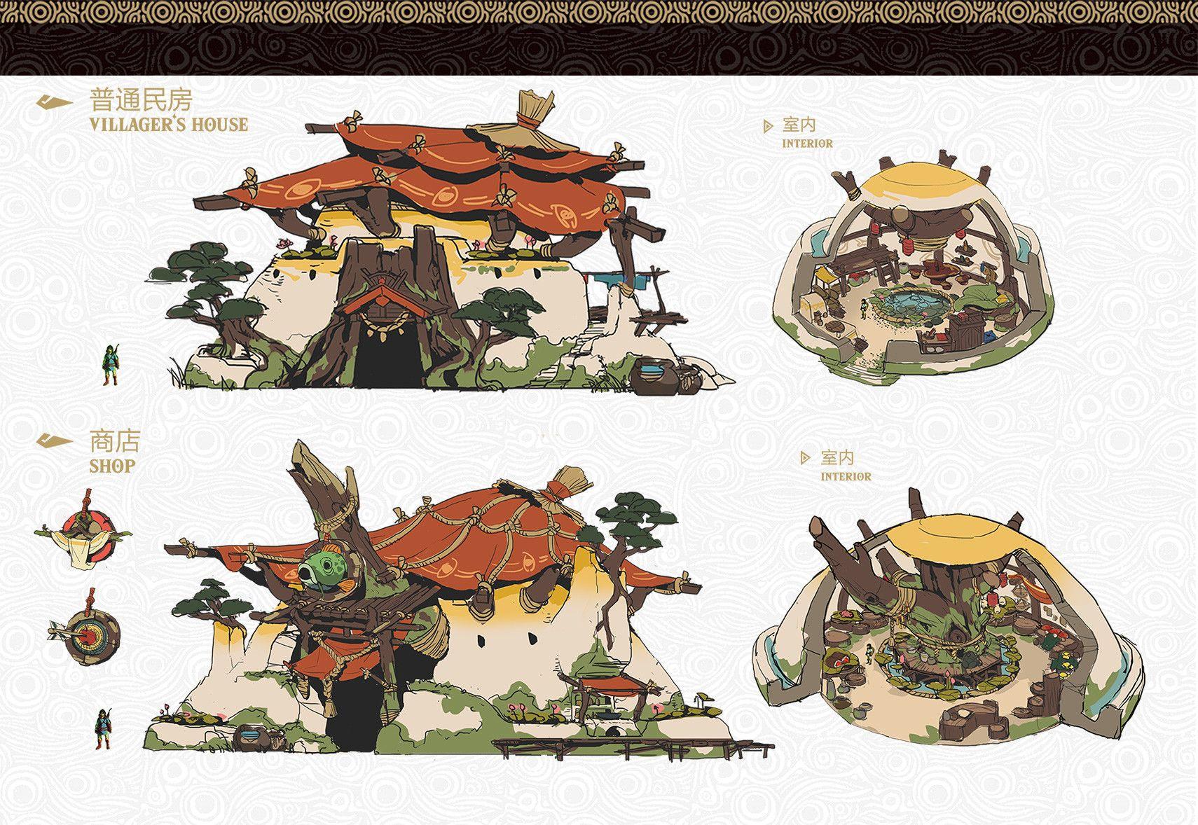 Artstation The Legend Of Zelda Fan Art Ziggy Zhu Environment Concept Art Character Design Concept Art