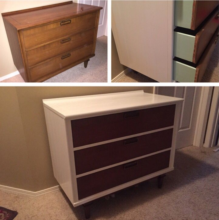 Best My Dresser Re Do Took These Cheap Flea Market Mid Century 400 x 300