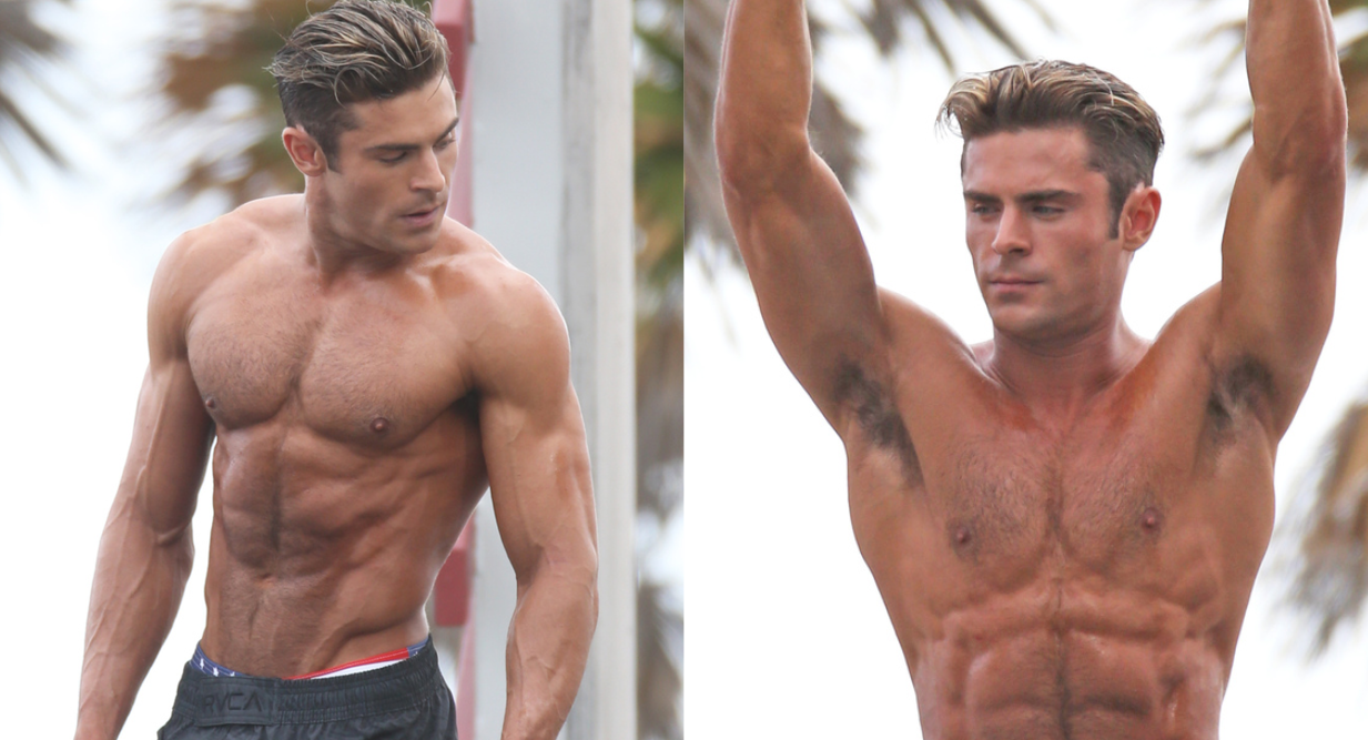 Zac Efron Filming Baywatch Shirtless Is The Gift That Keeps On