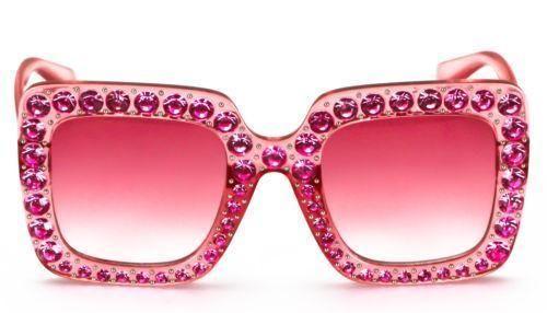 a174fdddd18 2018 NEW Oversized Square Frame Bling Rhinestone Sunglasses Women Fashion  Shades Frame Bling Square