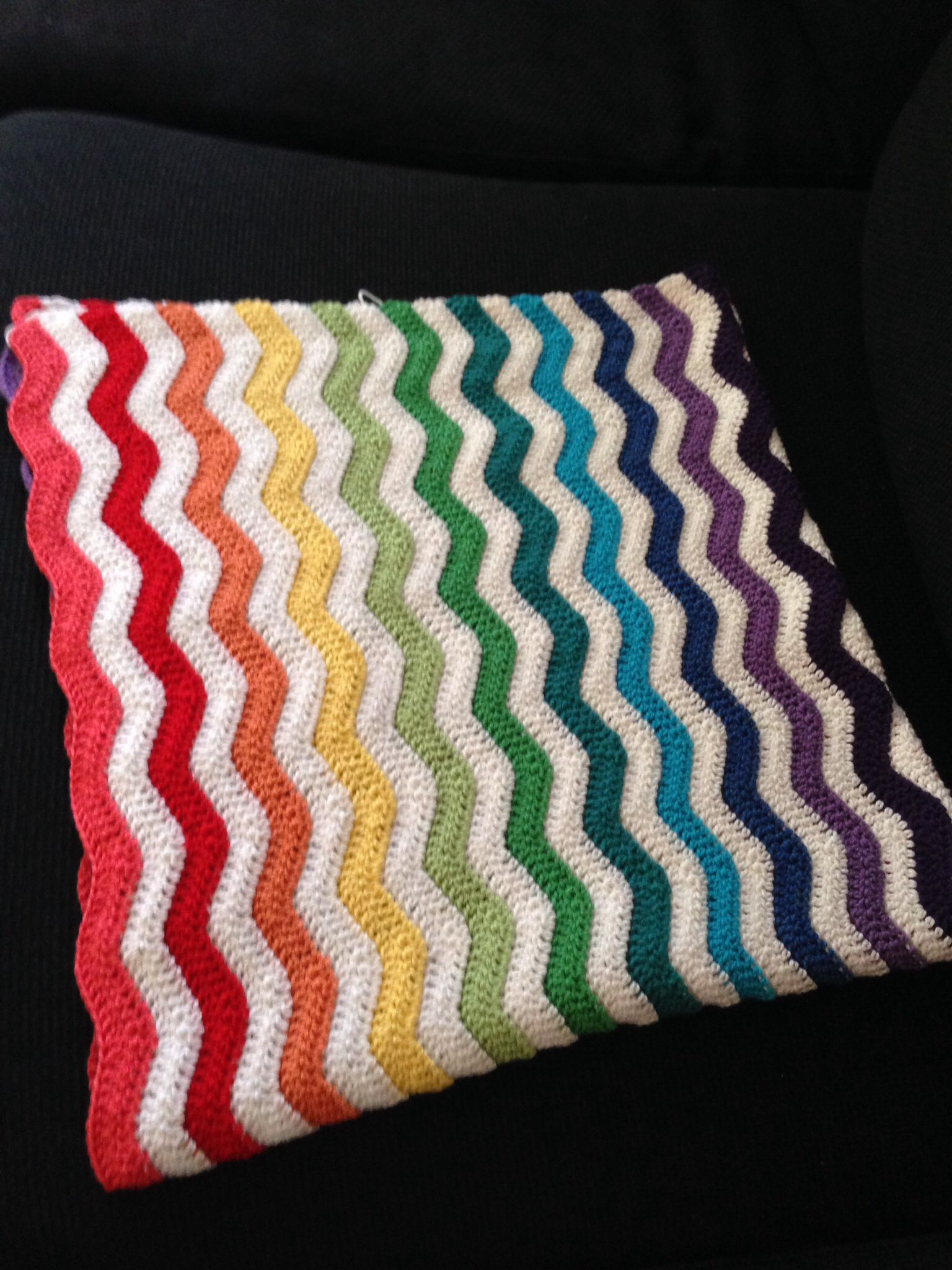 Ripple blanket. #crochet  Custom made crotchet blankets. For more details contact sivolinpinguin@gmail.com