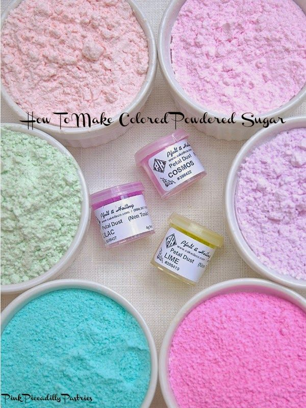 How To Make Colored Powdered Sugar 4 Ways