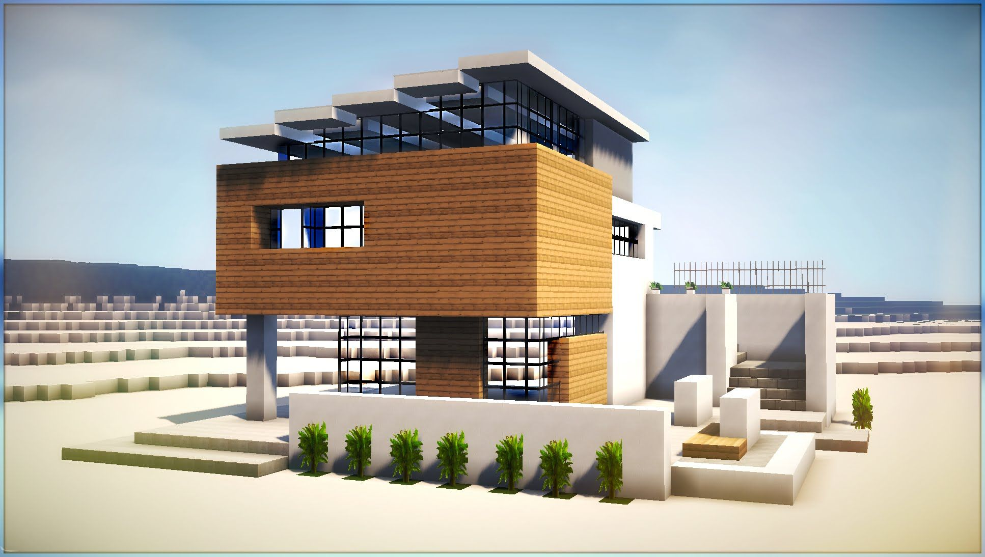 a minecraft how to build modern beach house part 2 minecraft