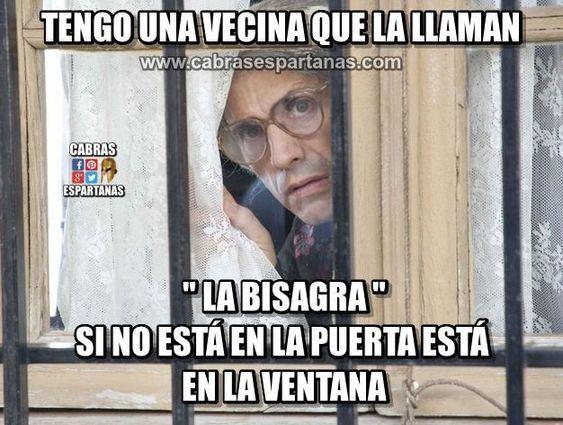 Vecina Bisagra Mas Cotilla No Puede Ser Chistes Humor Frases Comicas Chiste Grafico