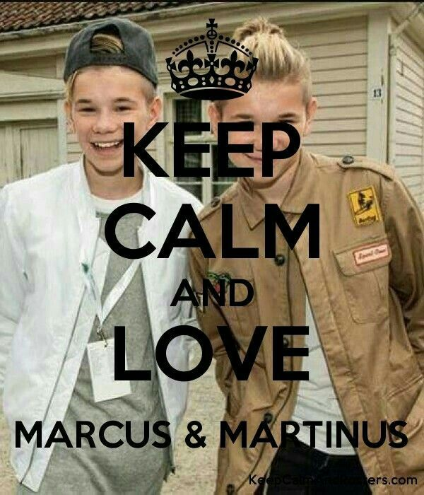 Keep Calm and love MarcusandMartinus