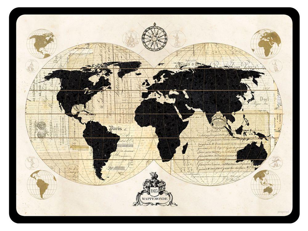 Vintage World Maps Brands Pimpernel Placemats Pimpernel Vintage World Map Placemats Vintage World Map Poster World Map Art World Map Canvas