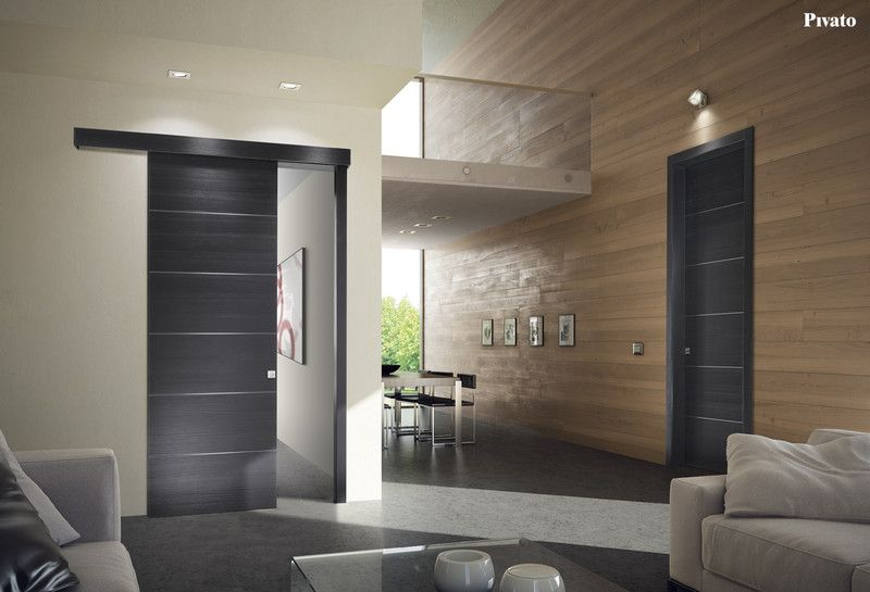 Porte interne in legno spazzolato | Porte interne in legno Pivato ...
