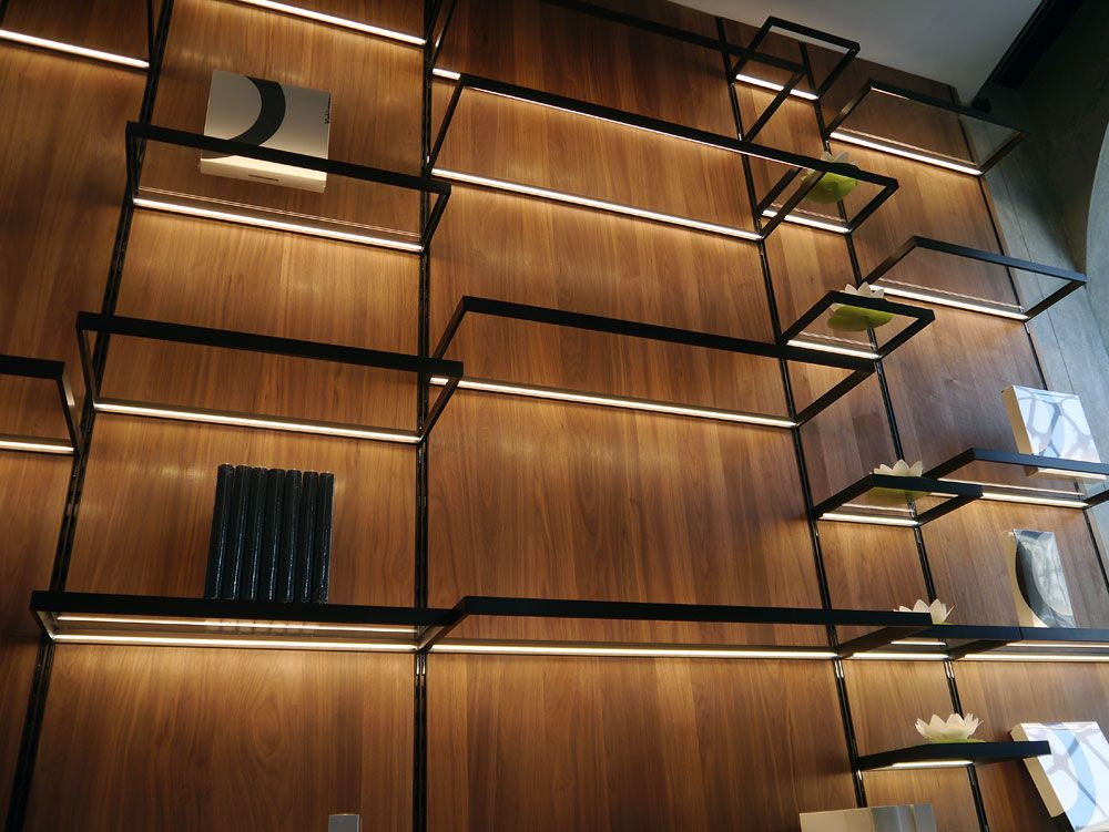 Mensole - shelving units w/ integrated lights Viabizzuno through www.Archetypelighting.com