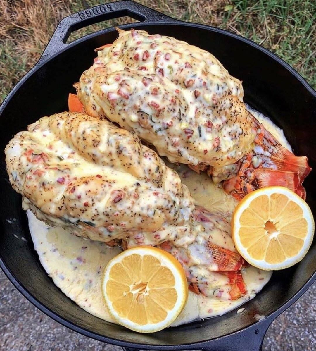 Lobster Tails Recipe With Garlic Lemon Butter Lobster Recipes