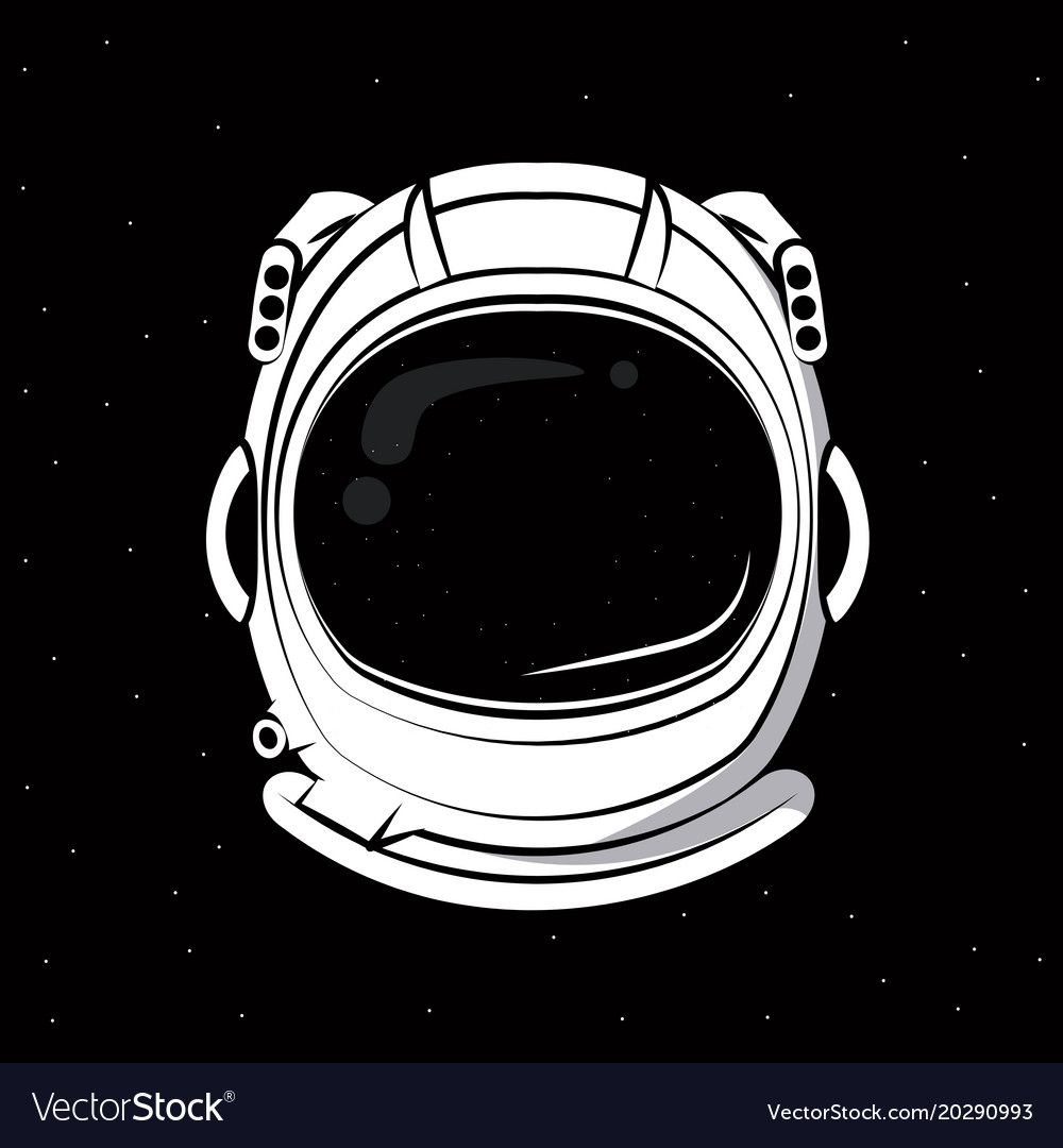 Astronaut Helmet Over Black Background Vector Clothing Design Download A Free Preview Or High Quality Ad Astronaut Helmet Astronaut Art Astronaut Illustration
