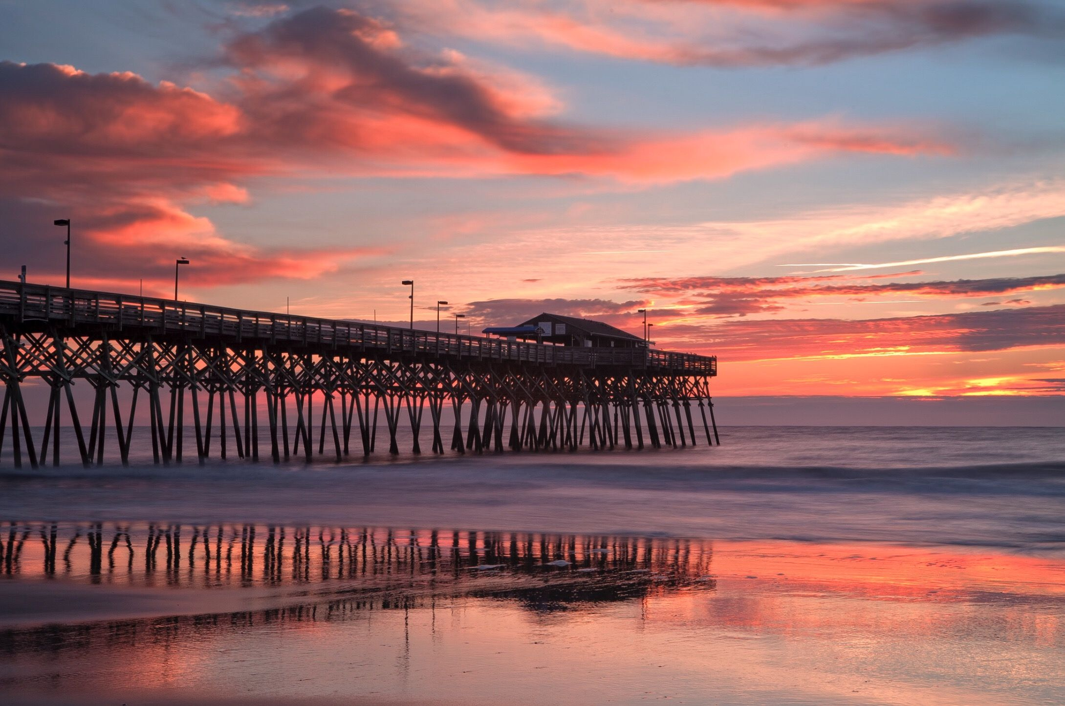 Sunrise At Surfside Pier Myrtle Beach South Carolina Myrtle