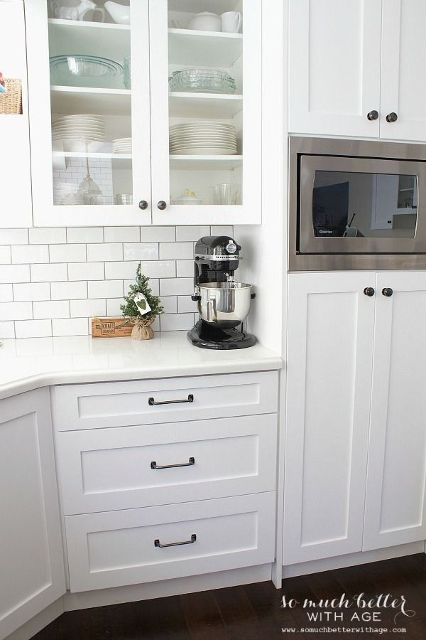 Farmhouse Kitchen Hardware For White Kitchen Cabinets Trenhomede