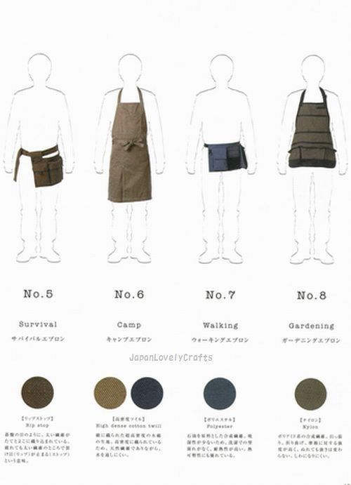 Book of Aprons for Men Japanese Sewing от JapanLovelyCrafts | My ...