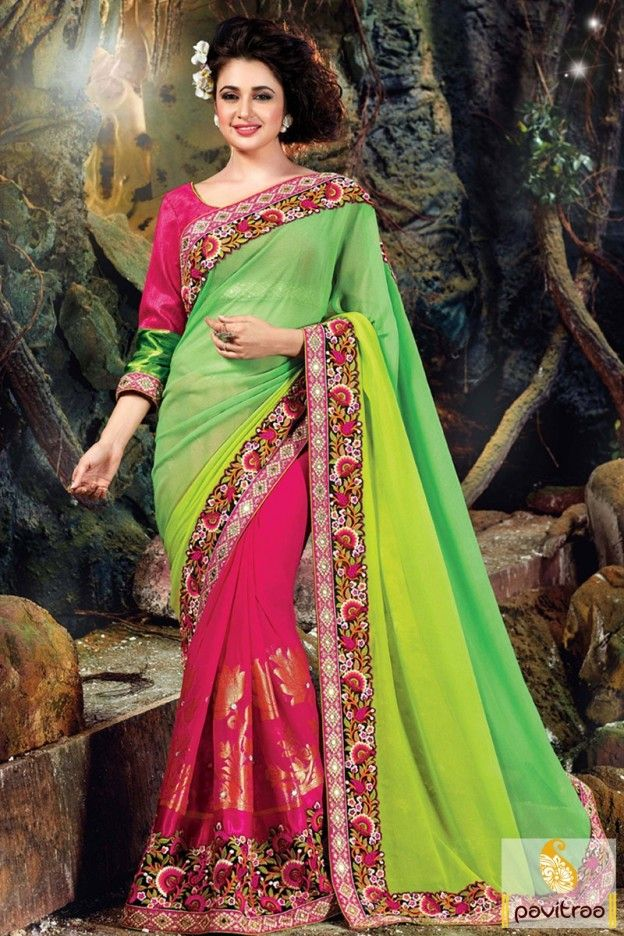 Amazing look viscose #dark pink saree with discount rate is the best awarded top most designer wedding saree by Indian women. Buy this heavy embroidery bridal saree online. #saree, #partywearsaree, #weddingsaree, #sari, #Indianweddingsaree, #designersaree, #sareeonline, #Indiansaree, #sareecollection, #anniversarysaree, #receptionsaree, #buysareeonline, #fashionsaree, #latestsaree, #designercollection More: http://www.pavitraa.in/store/party-wear-saree/ Any Query:			 Call Us:+91-7698234040