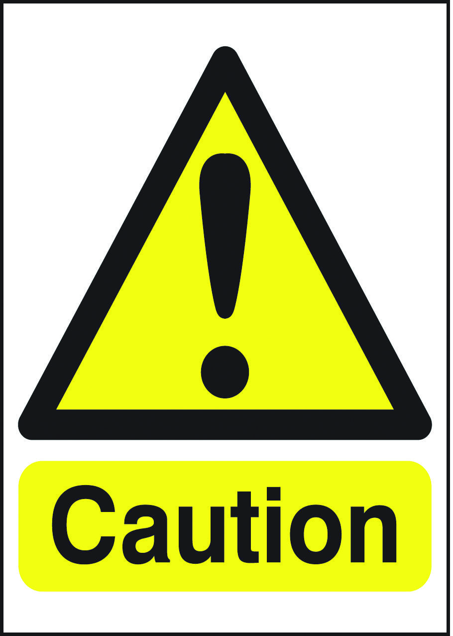 Generic Caution sign. Beaverswood Identification