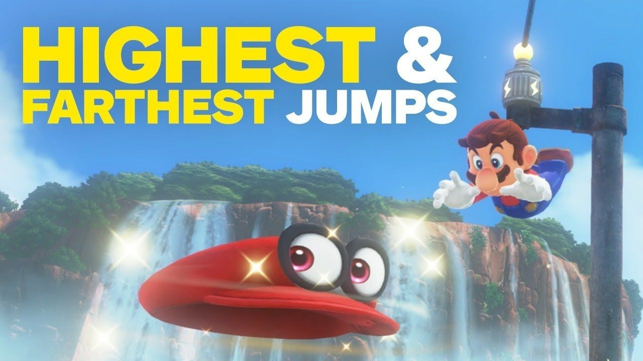 Super Mario Odyssey How To Jump Higher And Farther Video Game Videos High Jump Story Video Super Mario