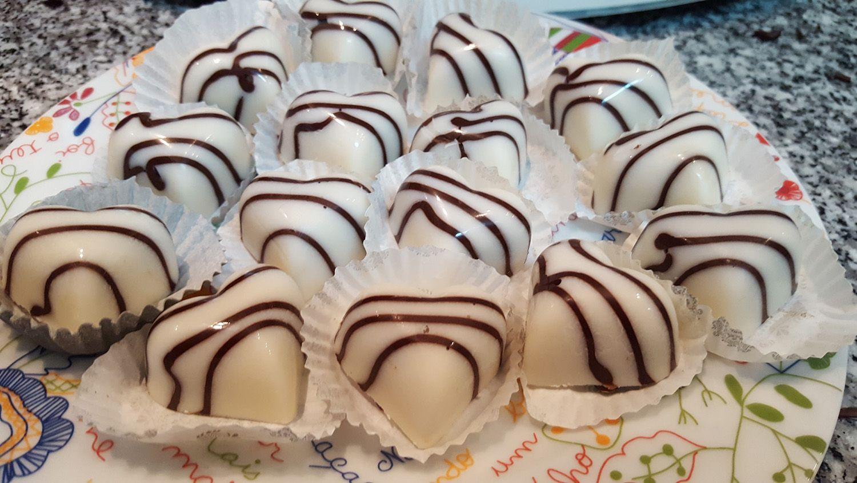 Bombons de Chocolate Branco