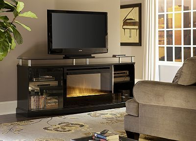 Entertainment Center With Fireplace Havertysrefresh Console Media Curved Tvs Electric